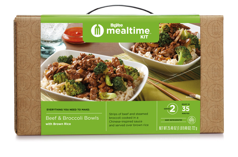 Beef and Broccoli Bowls Mealtime Kit box