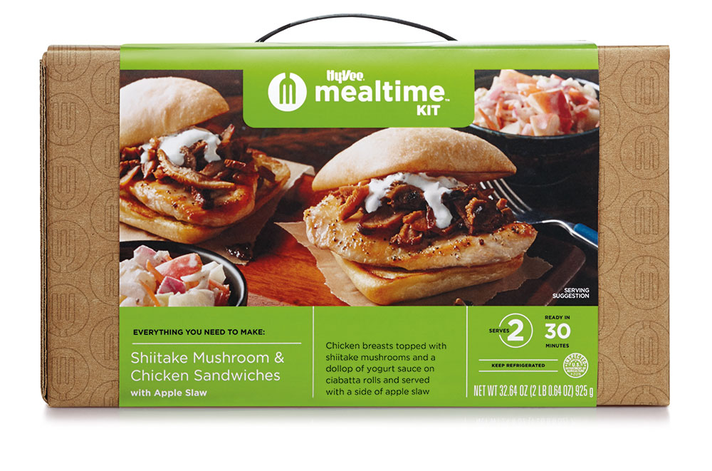 Boxed Shiitake Mushrooms and Chicken Sandwiches kit