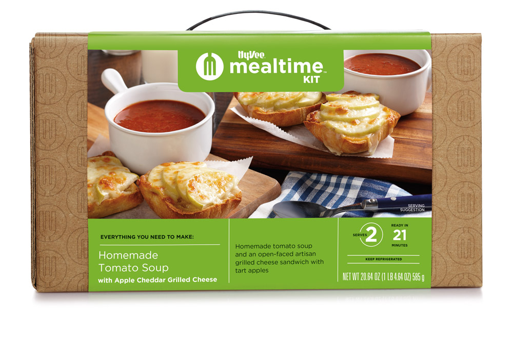 Homemade Tomato Soup with Grilled Cheese Mealtime Kit box